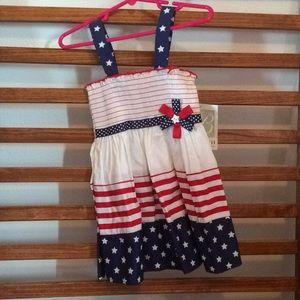 Girls Red White Blue w Stars NWT 2t Dress